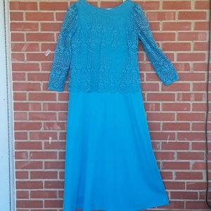 Vintage Handcrafted by Mister Jay lace dress, sz L